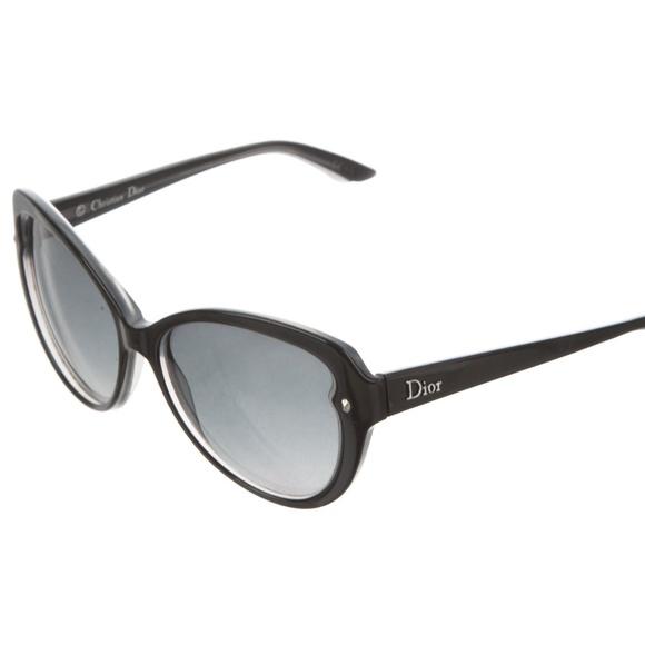 64f9526ae79 Dior Pondichery 1 Sunglasses Cat Eye Black Grey